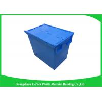 China Heavy Duty Dtorage Moving Stackable Plastic Tote Boxes With Hinged Lids wholesale