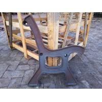 Antique Powder Coated Cast Iron Bench Ends And Steel Garden Bench Seat