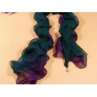 China 2013 new fashion purple and green gradient color Hand Painted Silk Scarf/chiffon scarves shawls wholesale