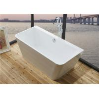 China Glossy Solid Surface Acrylic Free Standing Bathtub Indoor Square Shaped wholesale