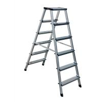 China GS Outdoor Silver Multipurpose Aluminium Foldable Ladder  2x6 Steps wholesale