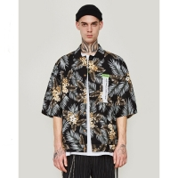 China Small order clothing manufacturers Sustainable Printed Funny Mens Beach Hawaiian Shirt Single Button wholesale