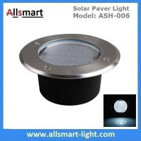 China Φ130x60mm Round Solar Paver Lights Maintenance Free Solar Brick Lights Solar Underground In-ground Lights Waterproof on sale