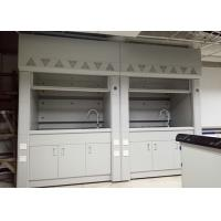 China Steel Lab Fume Hood with Expoxy Resin Worktop Resistance to Corrosion , Acid and Alkali wholesale
