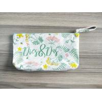 100% Cotton Computer Embroidery Pattern Canvas Cosmetic Pouch Organizer For Girls And Ladies