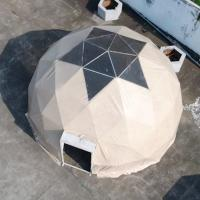 China Transparent Geo Dome Tent Shelter With Soft PVC Fabric Wall / Hot Steel Tube Dipping wholesale