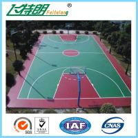 China Silicon PU Sports Flooring Polyurethane Floor Paint Outdoor Basketball Court Paint on sale