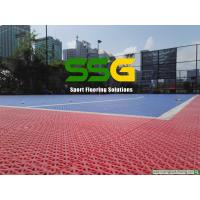 China Plastic Suspended Interlocking Rubber Floor Tiles For Basketball Court Flooring on sale
