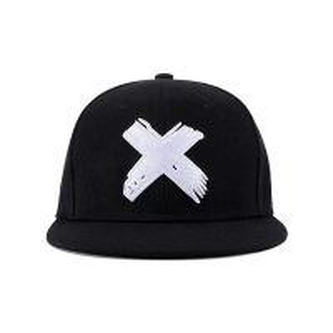 China Six Panels 8cm Long Flat Brim Snapback Hats With Metal Buckle wholesale
