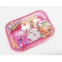 China Cute & Lovely Girl Pink Vinyl Zipper Pouches , Non-toxic Clear Plastic Makeup Bag wholesale