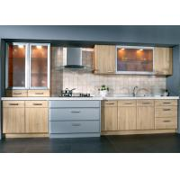 China Cherry Wood Painting Veneer Kitchen Cabinets , Antique European Kitchen Cabinets wholesale