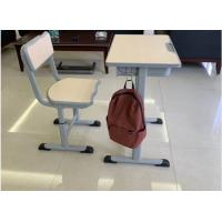 China Cold Rolled Steel Student Desk And Chair Set Commercial Furniture Eco - Friendly Material wholesale