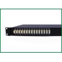 China 19 inch 1 RU Rackmount Multimode Fiber Optic Splitter , 850nm 1x2 10 IN 1 wholesale