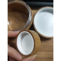 China 5g 100g 50g bamboo cosmetic jars For Face / Eye Cream / Body Lotion wholesale