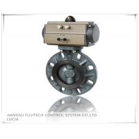 Buy cheap General DN50 PVC Pneumatic Butterfly Valve Wafer Connection With 8 Mounting from wholesalers