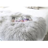 """China Real Grey Curly Hairs Tibetan Lamb Fur Smooth Warm 48'' X 24""""  For Home / Hotel wholesale"""