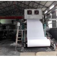 Buy cheap 1092mm Small toilet paper making machine price 2-3TPD tissue paper processing from wholesalers