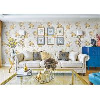 China Removable Indoor Non Woven Wallcovering For Bedroom Walls , Flower Design wholesale
