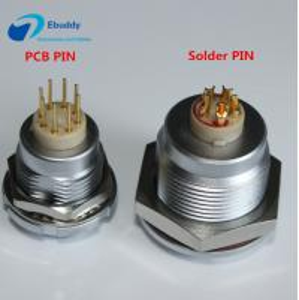 China 50 IP Rating Lemo B Series Connectors ECG 2-32 Pin Female Socket With PCB / Solder Pin wholesale