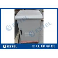 China LED Lamp Pole Mounted Outdoor Battery Cabinet , Outdoor Communication Cabinets With Door Sensor wholesale