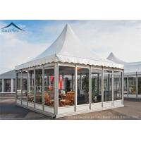 China European Aluminum Pagoda Tents With Glass Wall For Outdoor Event wholesale