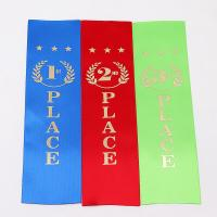 China Colored Custom Sports Ribbons , High Durability Athletics Place Ribbons wholesale