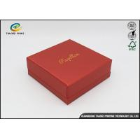 China Environmental Red Printing Cardboard Gift Boxes With Hot Stamping Surface Dispoal wholesale
