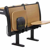 China Classic Amphitheater School Meeting Room Chair Metal Frame Plywood Interlocked wholesale