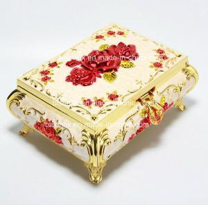 China Elegant Rose Golden trinket box for mothers day gifts with High-grade Velvet inner,Environmental electroplating on sale