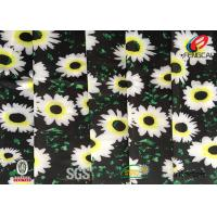 China Digital Printed Polyester Spandex Blend Fabric , Floral Lycra Swimwear Fabric wholesale