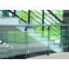 China Decorative Glass Railing Laminated Safety Glass Grey CE / CSI Approve wholesale