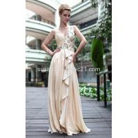 China Sequin Empire V Neck Evening Dresses LF1030590 wholesale