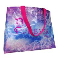 Buy cheap Custom Printed Non Woven Carry Bag Shining Coated Pink Handle For Shopping from wholesalers