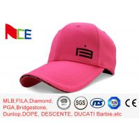 China Custom Made Simple Adjustable Golf Hats Pink Tall Relaxed Sports Style wholesale