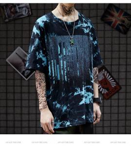 China 120-250gsm Summer Unisex Oversized T Shirt Tie Dye Short Sleeve Men′S Hip Hop Tee wholesale