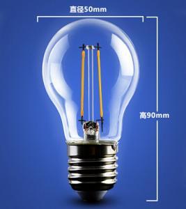 China golden base aluminum plastic C35 A60 E27 E14 Edison RGB COG lamp LED Filament Bulb Light wholesale