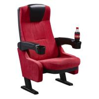 China Cup Holder Luxury Cinema Theater Chairs With Flame Retardant Fabric wholesale