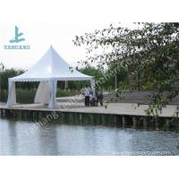 China White PVC Fabric Cover Aluminum Frame  High Peak Canopy against Strong Sun wholesale