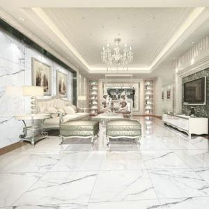 China Polished Glazed Porcelain Wall Tile / Modern Stone Kitchen Floor Tiles on sale
