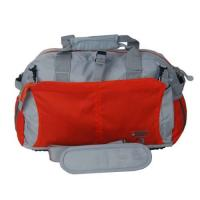 China Fashion 600D polyester water-proof grey with red Overnight Travel Bags / luggage bag wholesale