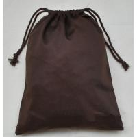 Buy cheap Custom Foldable Cotton Cloth Drawstring Bag Brown Storage Bag from wholesalers
