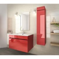 China 80 Inch Red Single Bathroom Vanity , Good Stability Bathroom Vanity With Sink wholesale