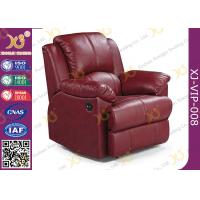China Real Leather Cinema Recliner Chair ,  Home Theater Sofa With Food Tablet wholesale