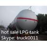 China hot sale best price 20tons bulk surface LPG gas storage tank, factory sale price propane gas storage tank for sale wholesale