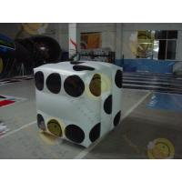 China White Fireproof Cube Helium Filled Balloons For Outdoor Advertisement wholesale