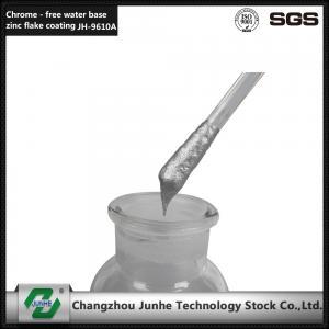 China Baking Type Zinc Flake Coating Self Dry Silver Top Coat 2 Adhesion Increase Surface Hardness wholesale