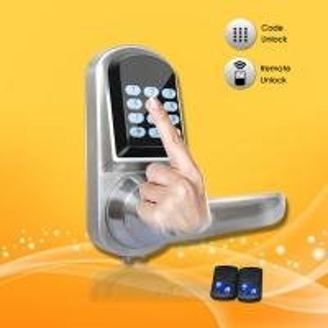 China Elegant Design Pass Code Door Locks , Remote Control Front Door Lock 154*68*78mm wholesale