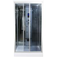 China Claasic Steam Shower Whirlpool Bath Combination , Square Bathtub Steam Shower Combo wholesale