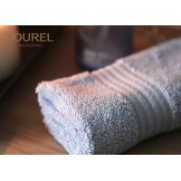 China 100% Cotton Popular White Hotel Face Towel With Platinum Dobby 32 x 32 cm wholesale