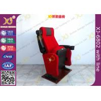 China Fire Retardant Fabric Cover Cinema Theater Chairs Anchor Fixed On Floor on sale